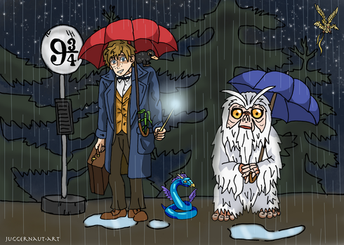 Fantastic Beasts Meets Studio Ghibli by Juggernaut-Art