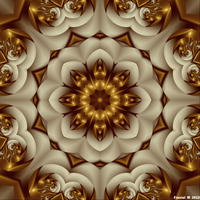 Golden Flower Mandala by fraxialmadness3