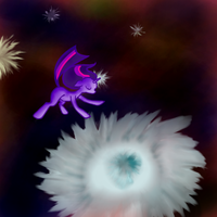 Nebula Flowers by LimeyLassen