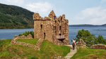 Scotland - Tower house of Urquhart Castle by pingallery