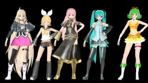 MMD DT Pomp Girls by willianbrasil
