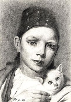 Girl and cat by olayousef2000