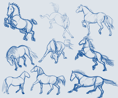 Sketchy Doodles Stock by BH-Stables