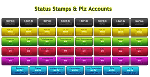 Status Stamps + Plz Accounts by SweetDuke