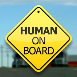 Human On Board Print by BoffinbraiN