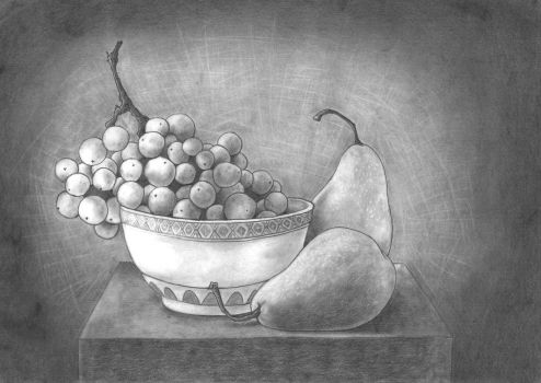 Grapes and pears by Sarosna85
