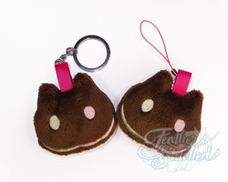 Cookie Cat Soft Keychain Plush by FeatherStitched