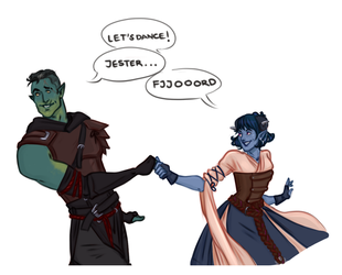 Fjord and Jester by captainceranna