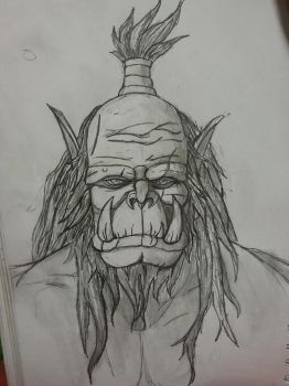 Orc Face potrait by Steamrider86