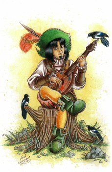 Lundvall the bard by Lord-Giovanni