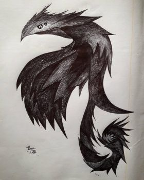 Ink dragon beast by Kyurem000