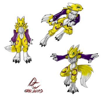 Renamon poses by Dirty-Wolf