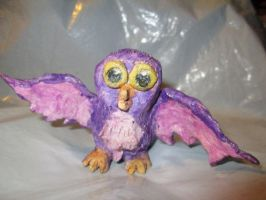 Clay Owl Sculpture Collecting Dust by Keikoku147