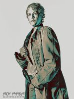 TWD: Carol Peletier: Crayon Sketch Edit by nerdboy69