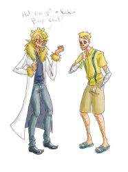 Those two skinny blonde dudes by colorsoftuesday