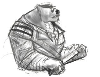Captain Volibear by Galvin-wolf