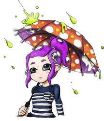 Octoling and her Brella by Upchuck2