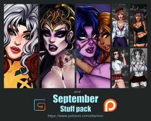 Patreon Stuff pack September 2018 - Gumroad by elwinne