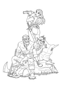 Unnamed Characters on an Unnamed Quest by JNathanIllustration