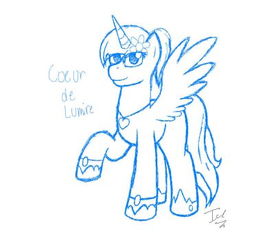 Coer de Lumire REQUEST by IceCrystalTheAlicorn
