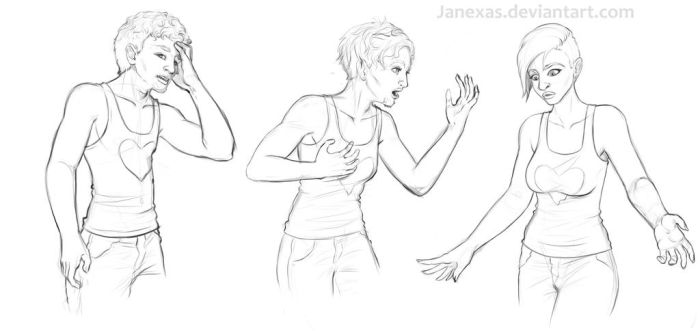 Anonymous Male 2 Female Commission by Janexas