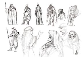 quick character sketches by TheBeke