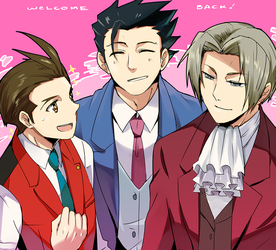 Ace Attorney- Welcome back! by meru-chan