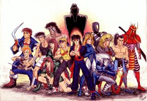 Streets of Rage Bad Guys by kairelld