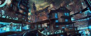 Shadow Warrior 2 : First Cyber City by M-Wojtala