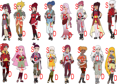 Flowers Naruto Collab Adopts - SOLD by mistressmaxwell