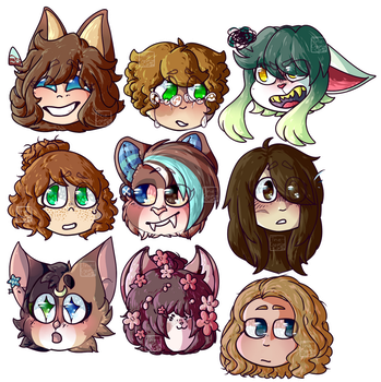 finished emote ychs (read desc!) by The--Creative--Cat