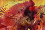 Zbrush Doodle: Day 1294 - Garden of Flames by UnexpectedToy