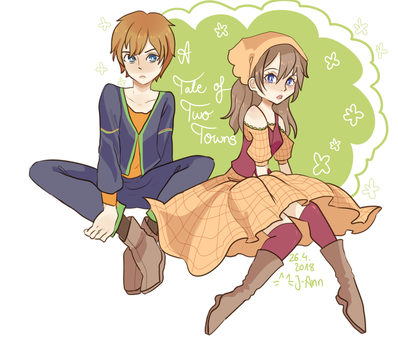 [Harvest Moon] Lillian and Phillip by Artistic-Something