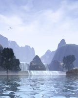 Lake Mist-Scene Stock by shd-stock