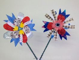 Two More Delightfully Unique Collage Flowers by Kyle-Lefort