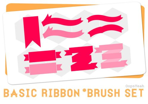 Basic Ribbon Brush Set by OopsYeah