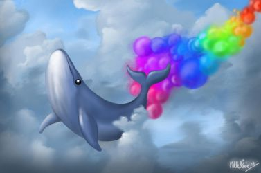Whale trail by nillemarien