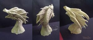 Dragon clay sculpture by Nimphradora