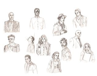 GDR - credits cast sketches by Testament77