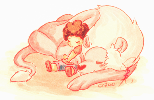 Steven and Lion by Chiibe