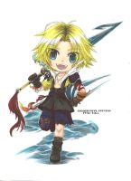 Chibi Tidus by ClaireRoses