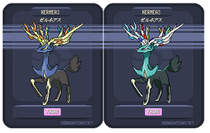 Xerneas Sprite by Melacee
