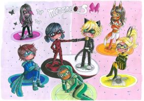 Miraculous 2-  Ladybug and Chat Noir by Shingery