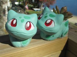 Bulbasaur Sprout Seedling Planter by tallydragon