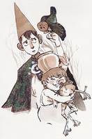 Inktober 22 - Trail (Over the Garden Wall) by hamusson