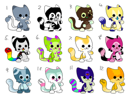 Colourful Kitty Adopts (CLOSED) by 1-800-ADOPT