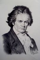 Ludwig Van Beethoven portrait by Raimondsy