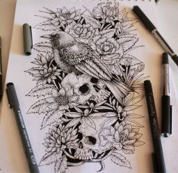 Forearm Tattoo - InkOctober Day 6 by EG-TheFreak