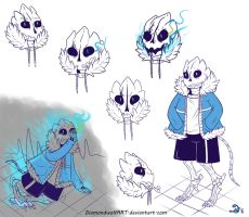 GasterBlaster!Sans by DiamondwolfART