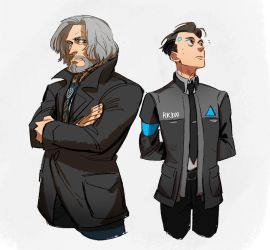 Hank and Connor by huanGH64